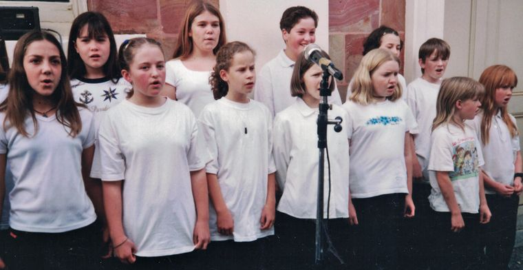 The Maccy School Choir in 2000