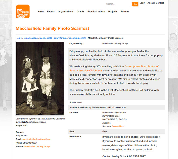 Macclesfield Photo Scanfest