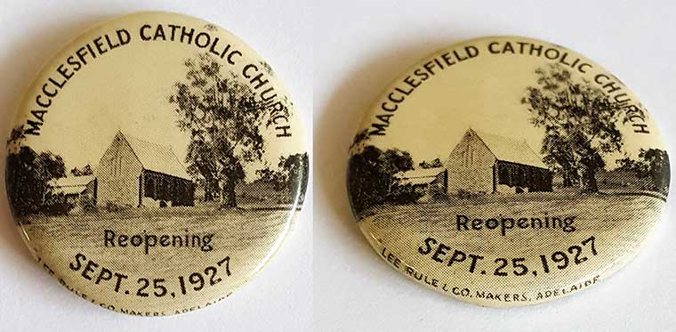 Badge sold to raise monies for the repairs of the church at the Diamond Jubilee