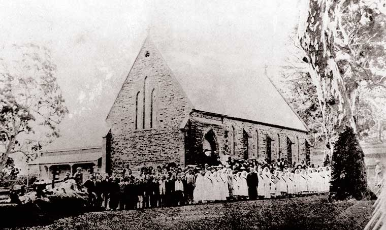 Confirmation 7 Oct 1886 at St James the Less. This is our earliest photograph.