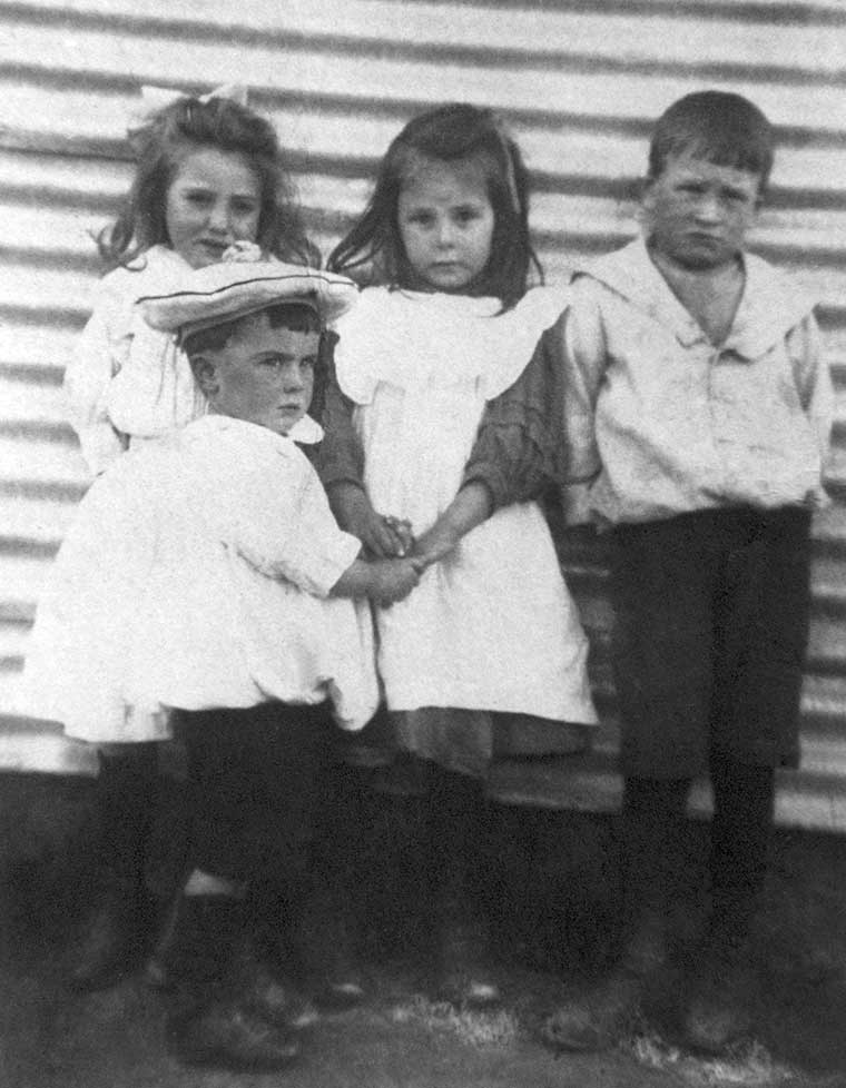 Sylvia, George, Ted Dugmore Paris Creek School