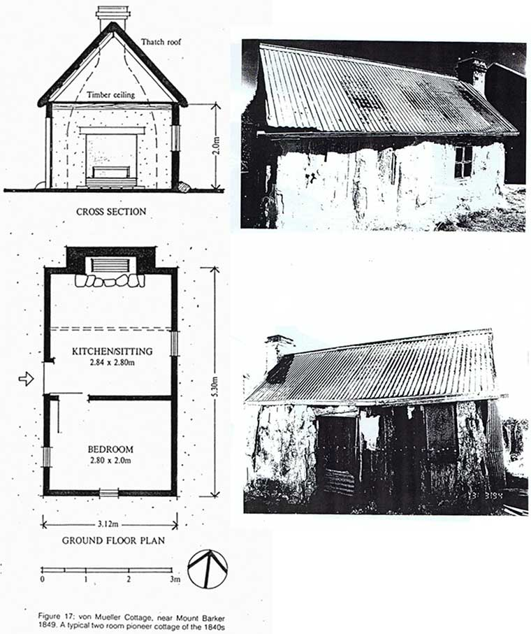 The floor plan of Mueller's Cottage at Bugle Ranges & Photos