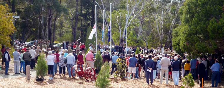 RSL ANZAC Gardens Dedication - Audience